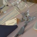 Table setting with glassware